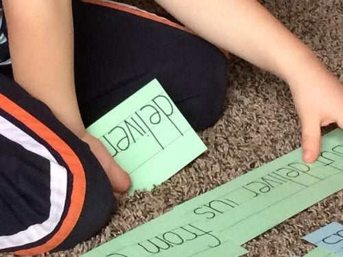유아기의 읽기 교육 단어 카드