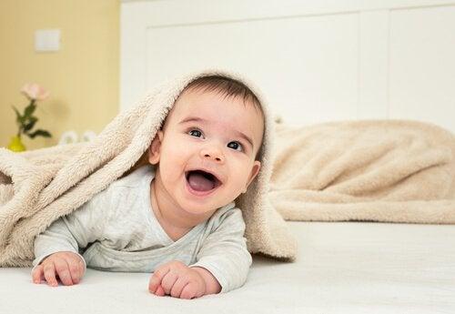 생후 8개월 아기를 대하는 방법 담요