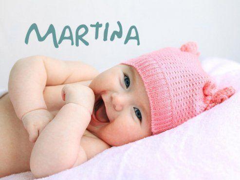 가장 인기 있는 아기 이름 마르티나