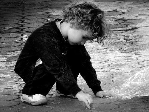 자폐증이 의심되는 아이의 행동