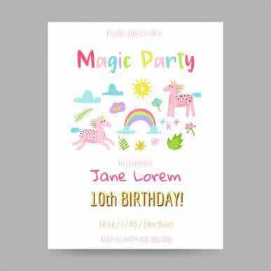 아이의 생일 파티 초대장을 만드는 5가지 아이디어