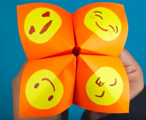 아이의 감정 표현을 위한 동서남북 종이접기