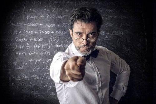자질이 부족한 교사들의 공통적인 특성