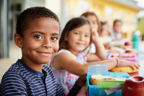 학교에서 아이들 간의 상호 작용