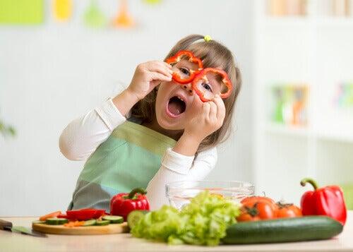 야채 더 많이 먹이기
