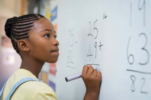 수학 지능을 가지고 있는 아이들