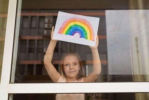 격리 중 어린이의 적응 능력