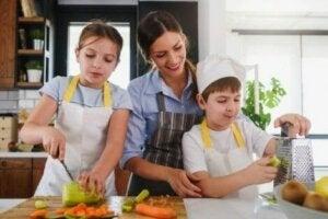 아이와 함께 요리할 때 기대할 수 있는 효과