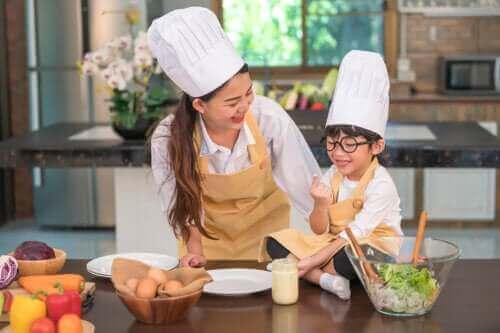 유치원생을 위한 요리 활동