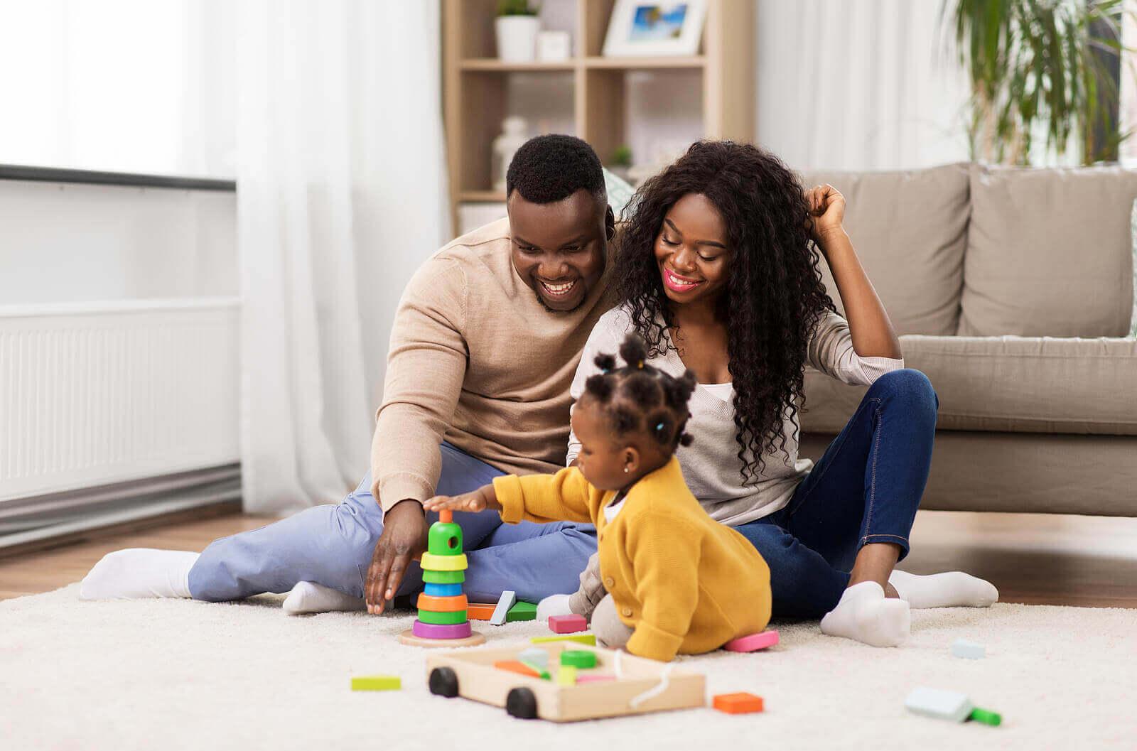 행복한 부모와 행복한 어린이