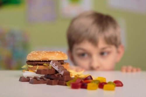 과자 섭취 금지