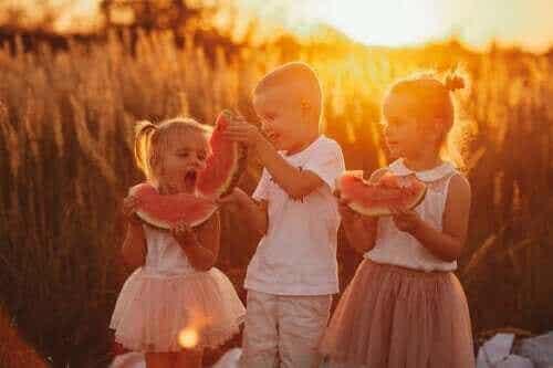 여름철 아이들을 위한 수분 공급 식단