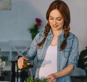 임신 중 올리브유 섭취의 이점 3가지